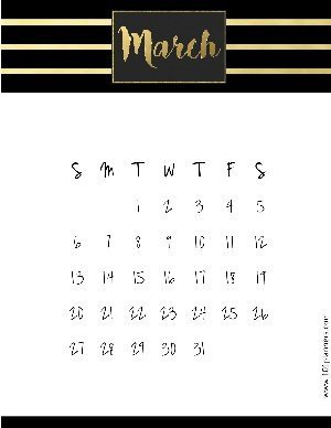 Free Printable March 2020 Calendar Customize Online
