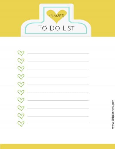 7 Menu Printable Day Planner
