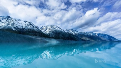 Tasman Lake on South Island New Zealand-2017 Bing Desktop ...