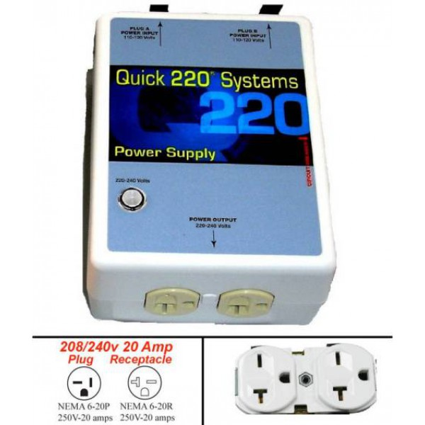 20 Ampere 4400 Watts Outlet 220 Volts Nema 6 20
