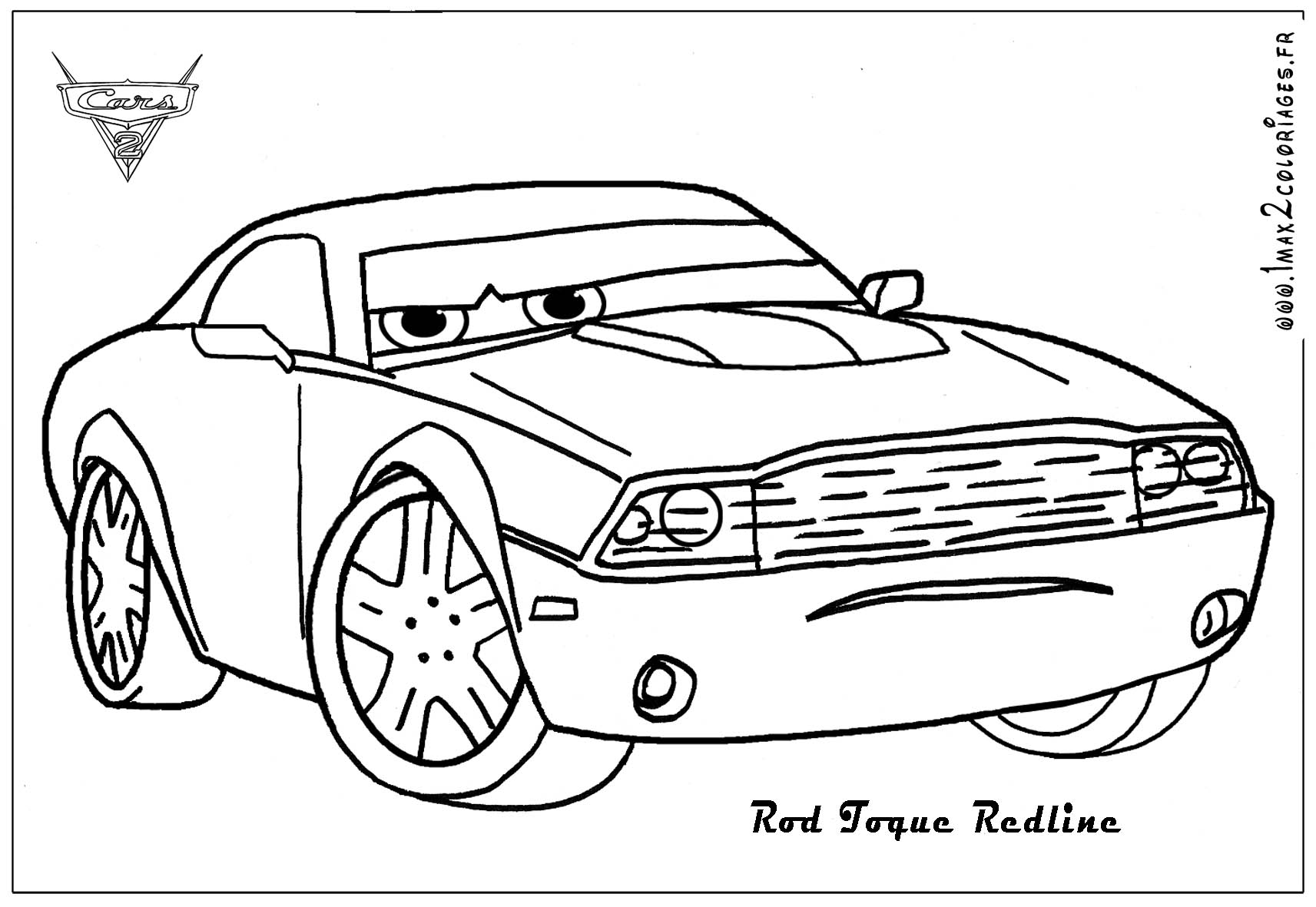Cars 1 And 2 Coloring Pages Coloring Page