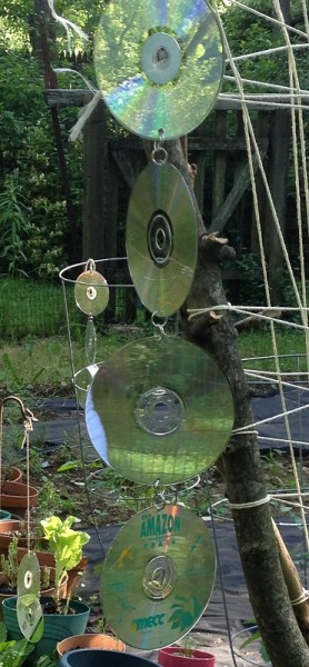 Reusing Old Cd S How To Keep Birds Out Of The Garden 1