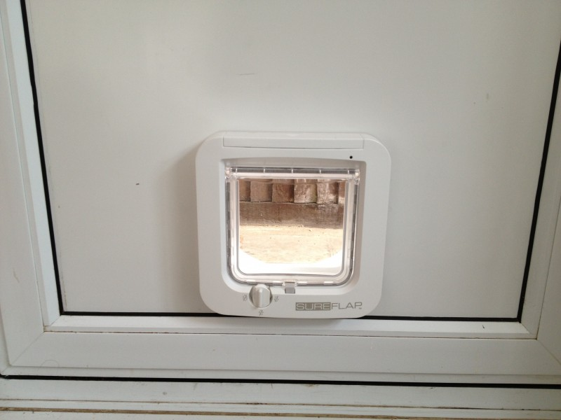 Microchip Cat Flap Fitted In Infill Panel 1st Call Glazing
