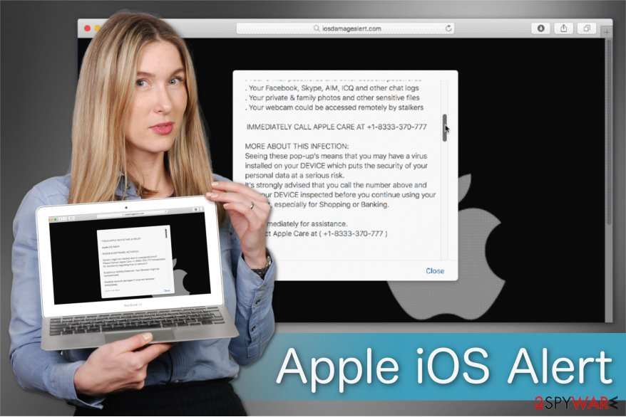 Remove    Apple iOS Alert    scam  Improved Guide    Tutorial  Apple iOS Alert  scam illustration