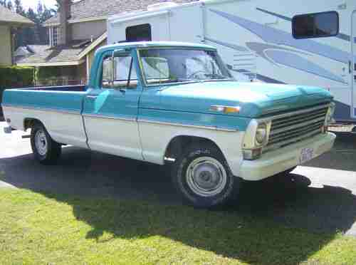 Ford Cyl Engine 6 1968 Truck