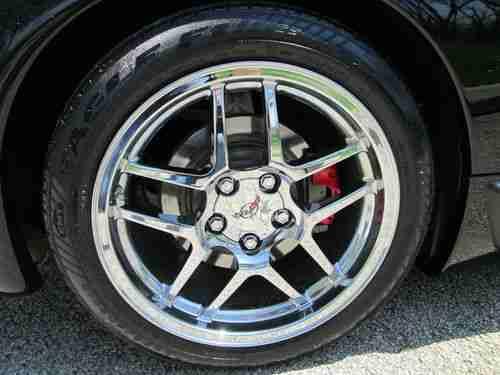 Buy Used 1998 C5 Corvette Triple Black Convertible Ragtop Chrome Z06 Wheels Calipers Vent In