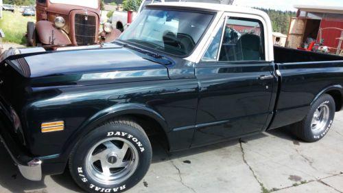 Dark Chevy Green Truck 1966