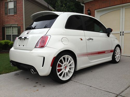 Sell Used 2012 Fiat 500 Abarth White Red Navigation