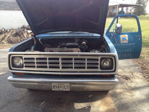 1974 D100 Dodge Parts