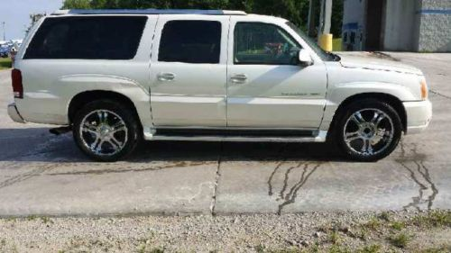 Find Used 2004 Pearl White Escalade Esv Clean Interior In