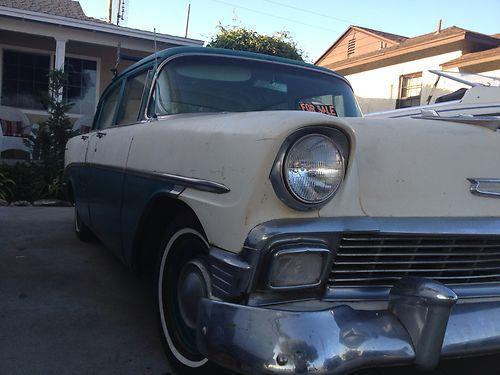 Find Used 1956 Chevrolet Bel Air 4 Door 6 Cylinder In