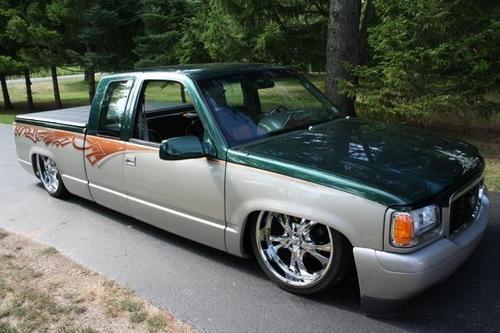 Black Pickup Truck Chevy C1500 Custom