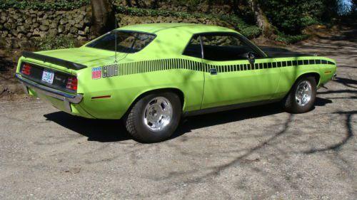 Buy Used 1970 Plymouth Cuda Original 340 4 Speed Lime Lite