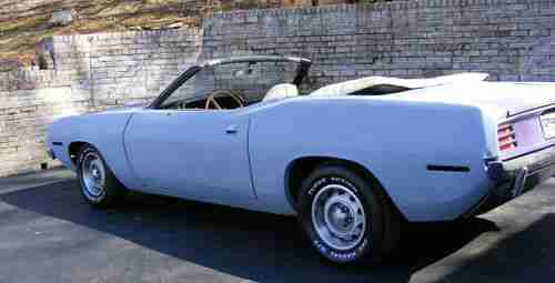 Find Used 1970 Plymouth Barracuda Convertible Factory