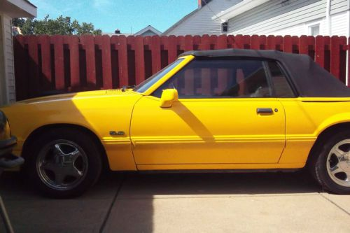 Buy Used 1993 Ford Mustang Lx Canary Yellow In Cleveland