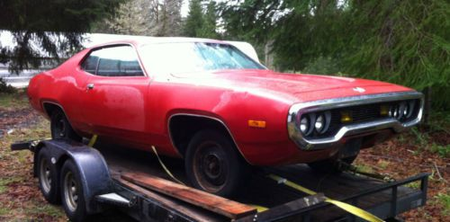 Find New 1972 Plymouth Satellite Fe5 Red Coupe 72 318 Auto