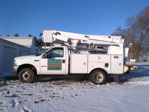 Sell Used F 450 Bucket Truck With Utility Box 6 0 Diesel