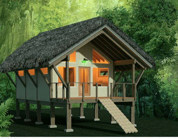 Top 15 Energy Efficient Homes and Eco Friendly Home Design Elements     Jungle shelter  Via House Plans
