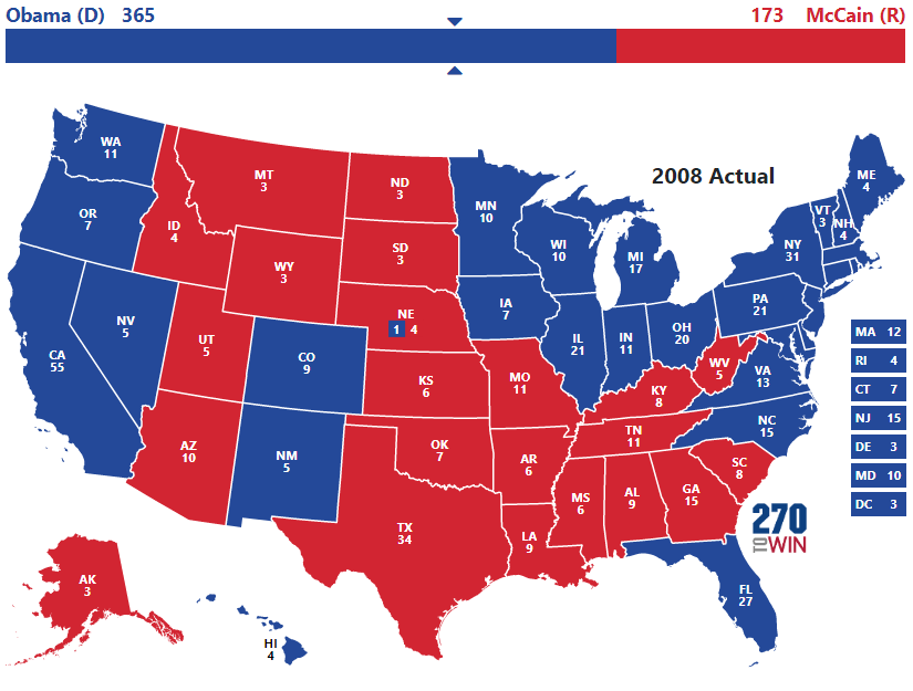 2008 Presidential Election Map