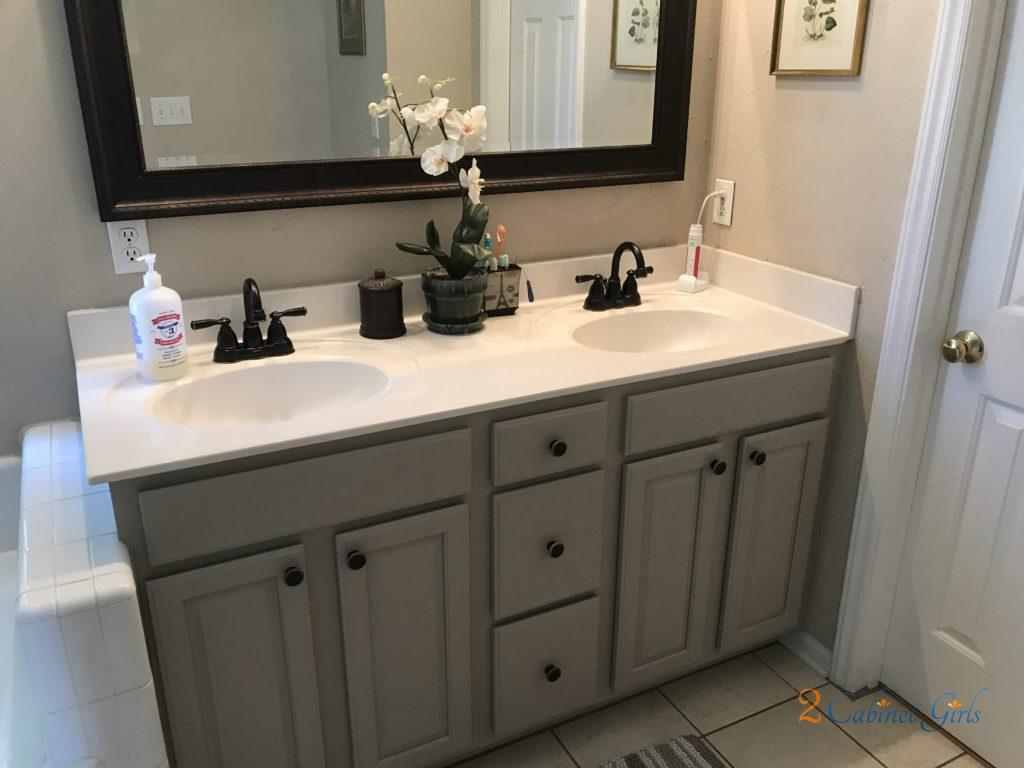 Balanced Beige Bathroom 2 Cabinet Girls