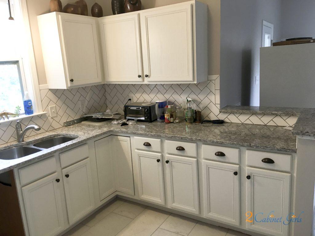 Pearly White Oak Upgrade 2 Cabinet Girls