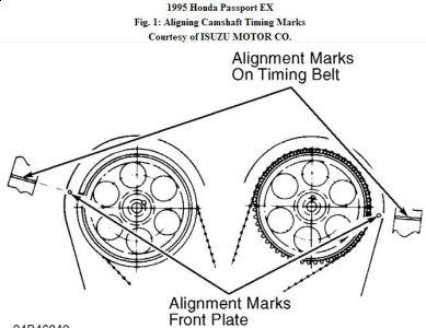 1995 Honda Passport Timing Engine Mechanical Problem 1995