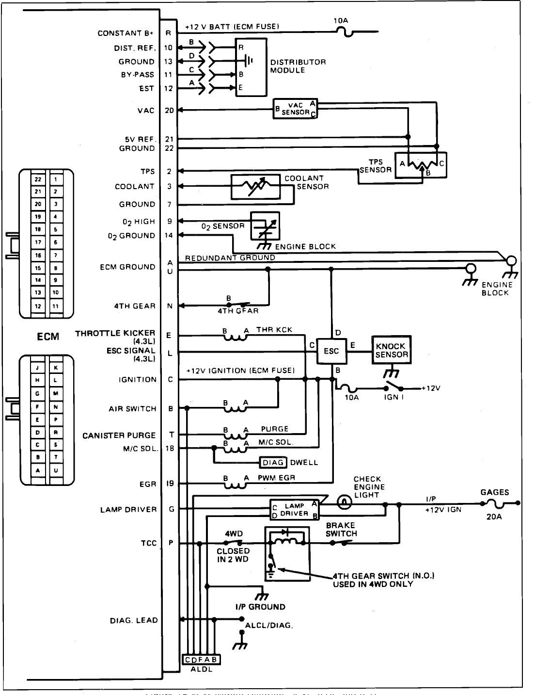 1985 Corvette Wiring Schematic