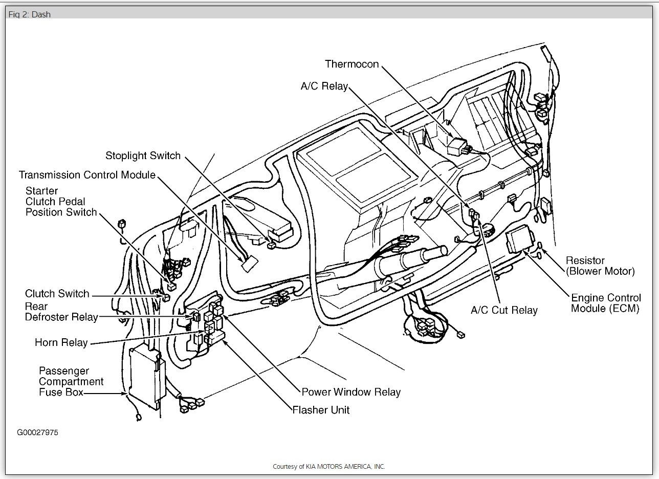 2009 Kia Rio Parts Diagram Engine