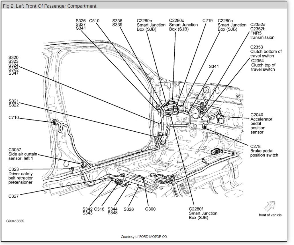 2009 Mercury Milan Engine Diagram