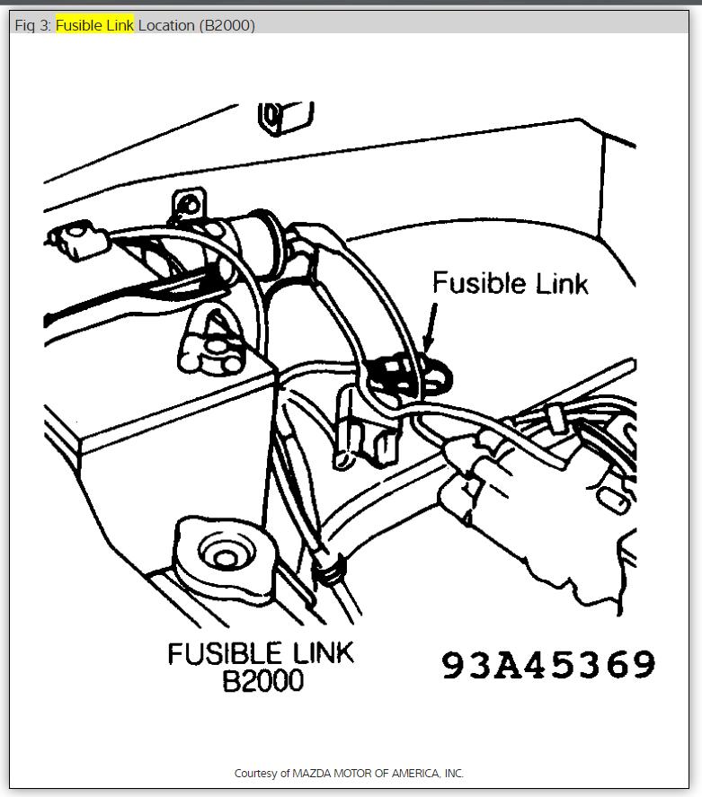 1991 Mazda B2200 Engine Diagram