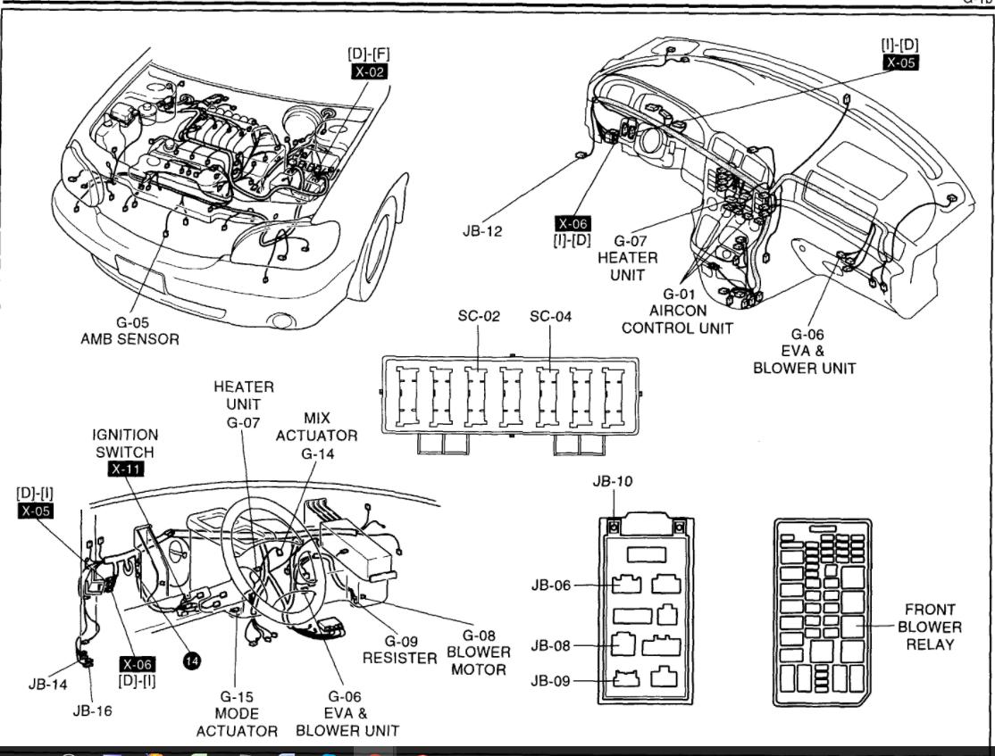 2008 Mercury Grand Marquis Blend Door Motor Diagram