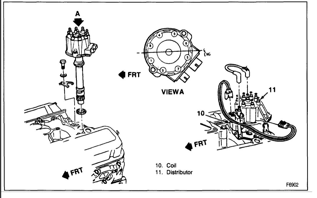 Firing Distributor Order Chevy 1989 350