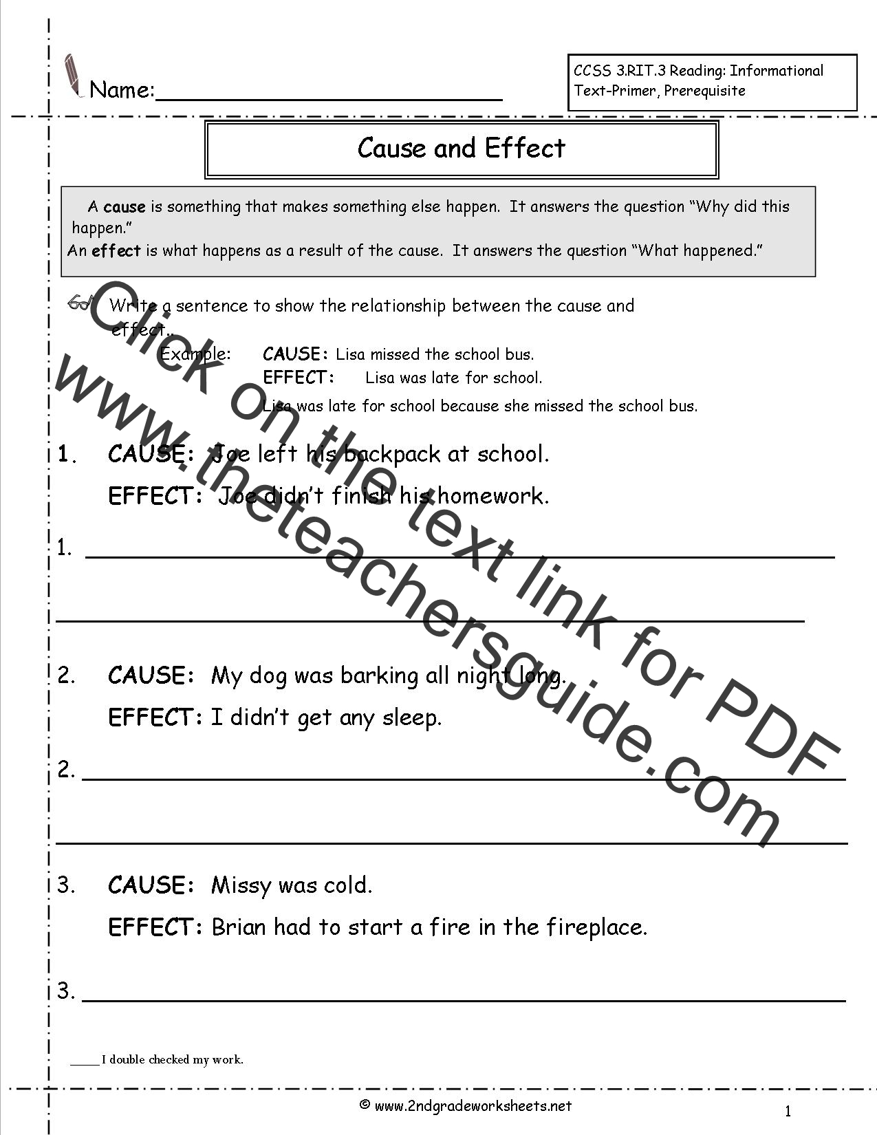 Worksheets  Cause And Effect Worksheet 4th Grade Free Worksheets Libr