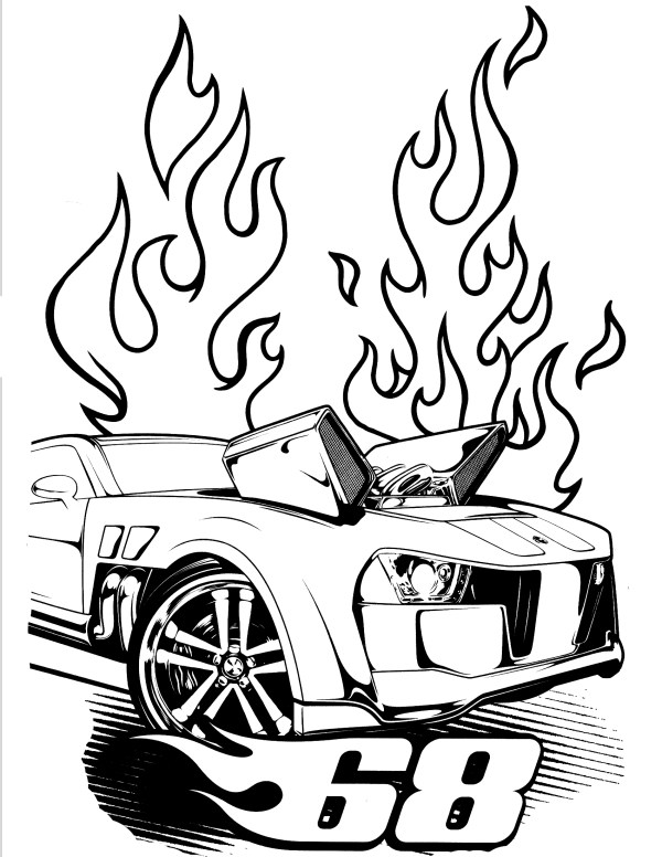 hot wheel coloring pages # 78