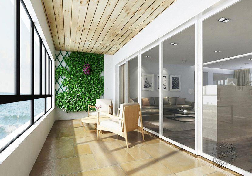 Villa Veranda Design 3d Interior Rendering For Villa