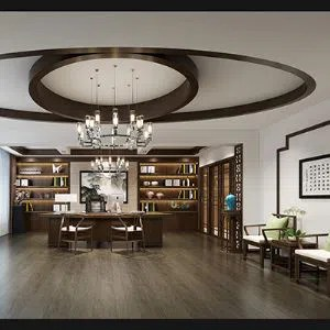 General Manager Office Rendering Design,chinese Style