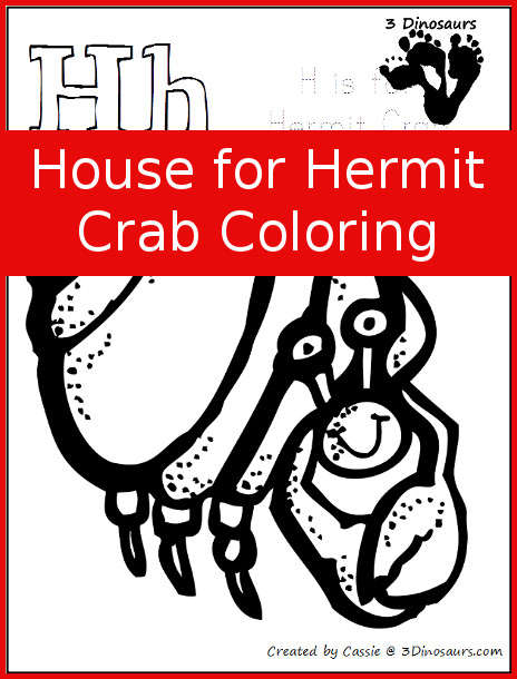 hermit crab coloring page # 64