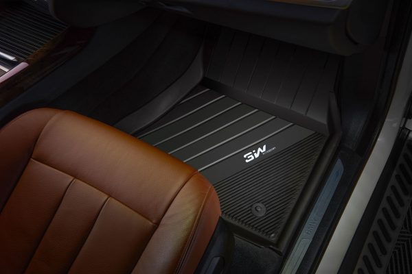 Passenger side floor mats for a BMW x5