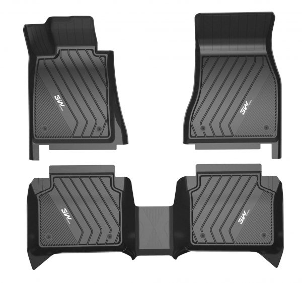 Black floor liners for a BMW x5 set