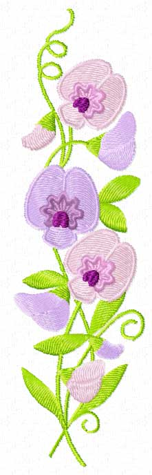 sweet pea embroidery # 28