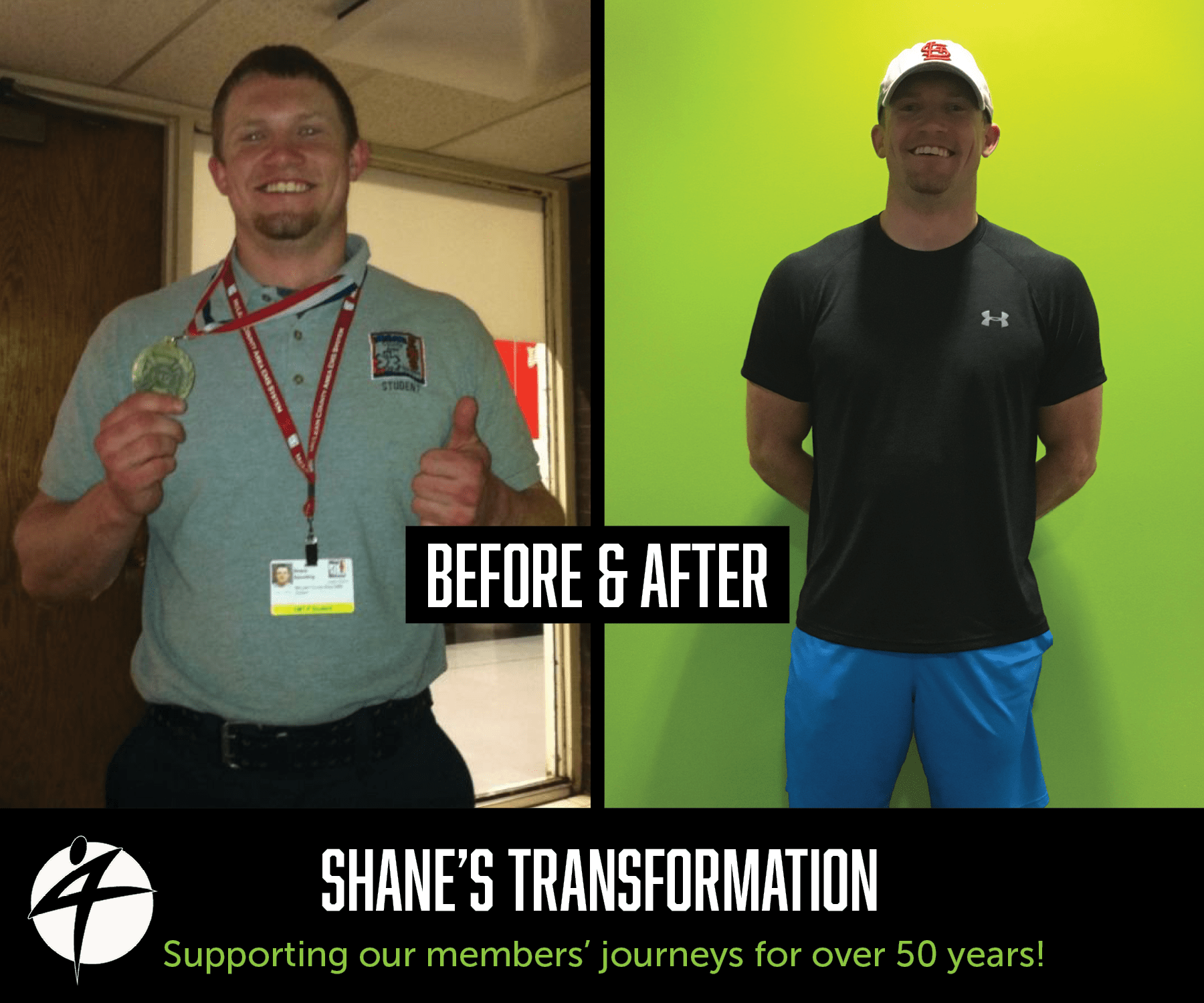 Shane's before and after photo