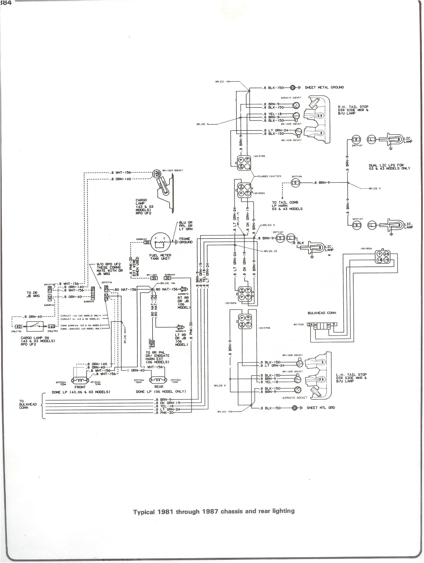 Plete 73 87 wiring diagrams 2009 ford f 150 fuse box diagram 81 87 chassis