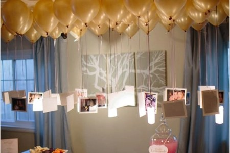 20  Creative   Easy Ways to Use Photos as Party Decorations Pictures Hanging from Balloons