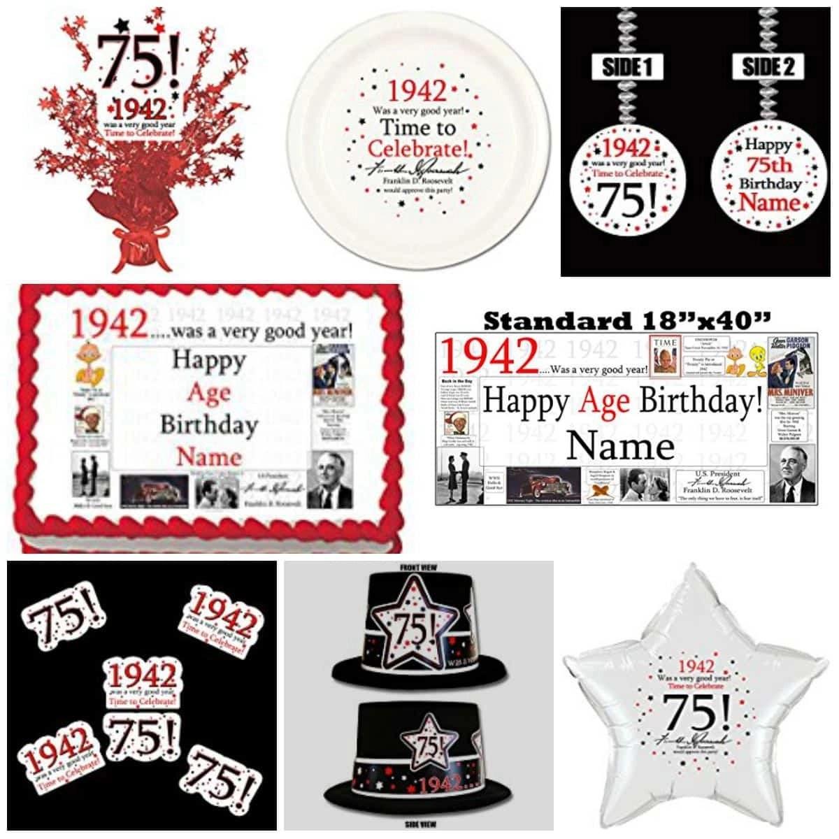75th Birthday Decorations Ideas
