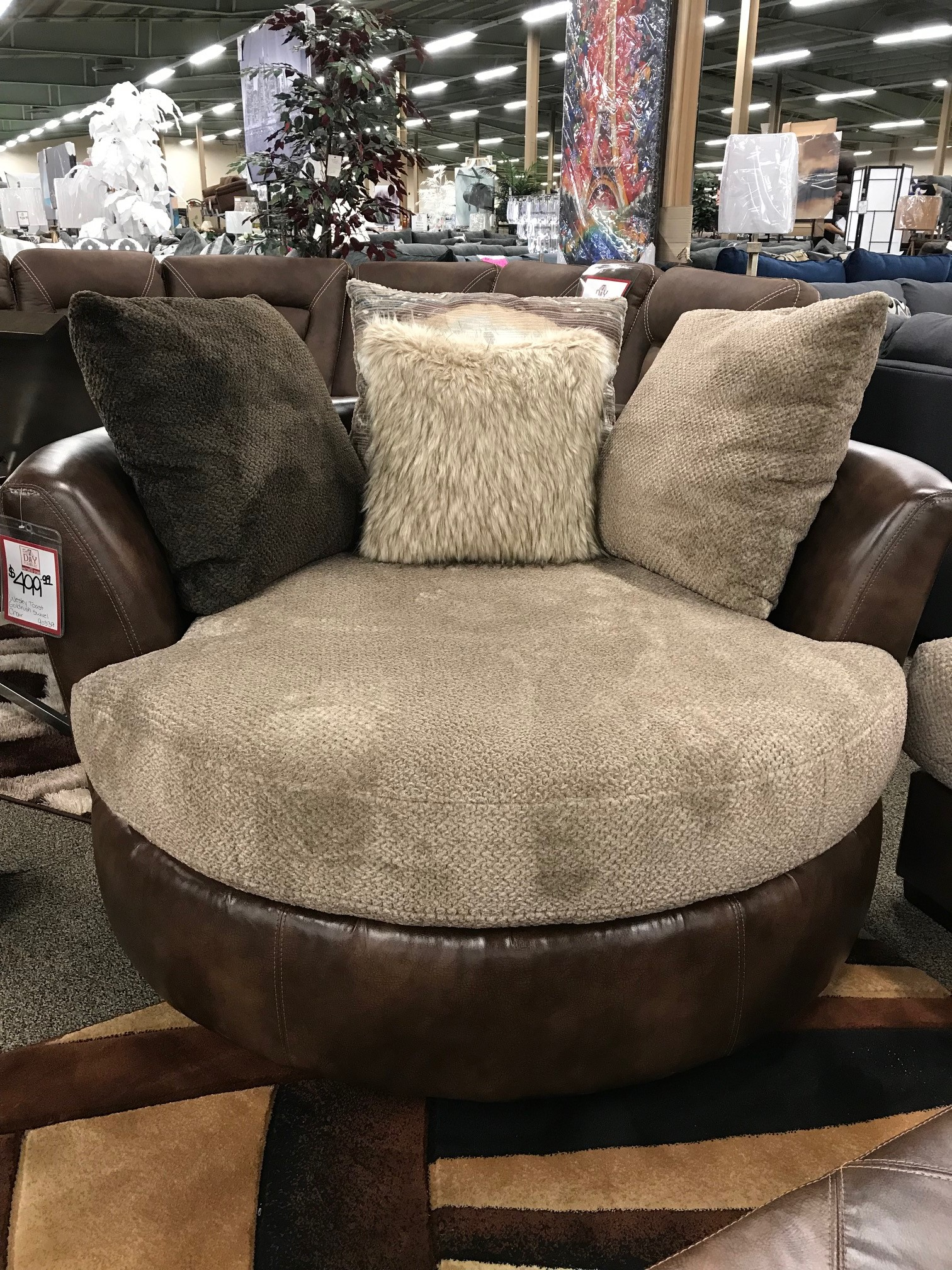 Wesley Toast Gold Rush Cafe Swivel Chair