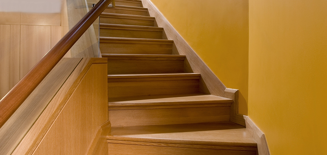 Stock Stairs Custom Stairs 84 Lumber   Hardwood Handrails For Stairs   Brown   Outdoor   Stairway   Light Wood   Colour Stair Painted Stair Railing