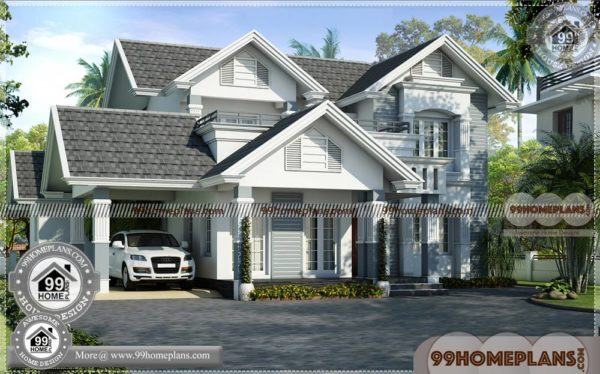 Small House Plans With Pictures   Double Story Traditional Home Designs