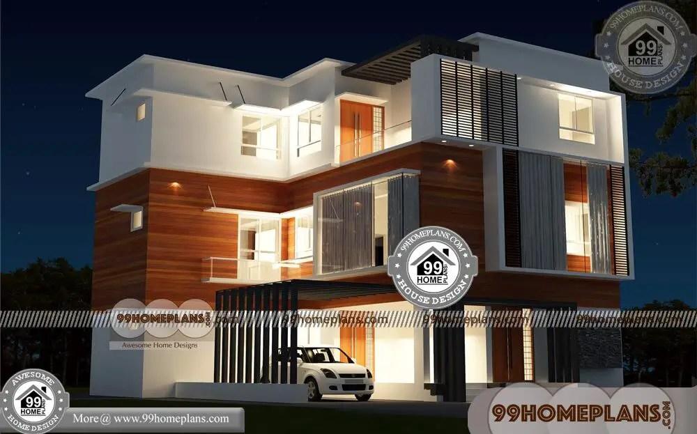 Three Story House Plans Narrow Lot 80 3 Storey Villa