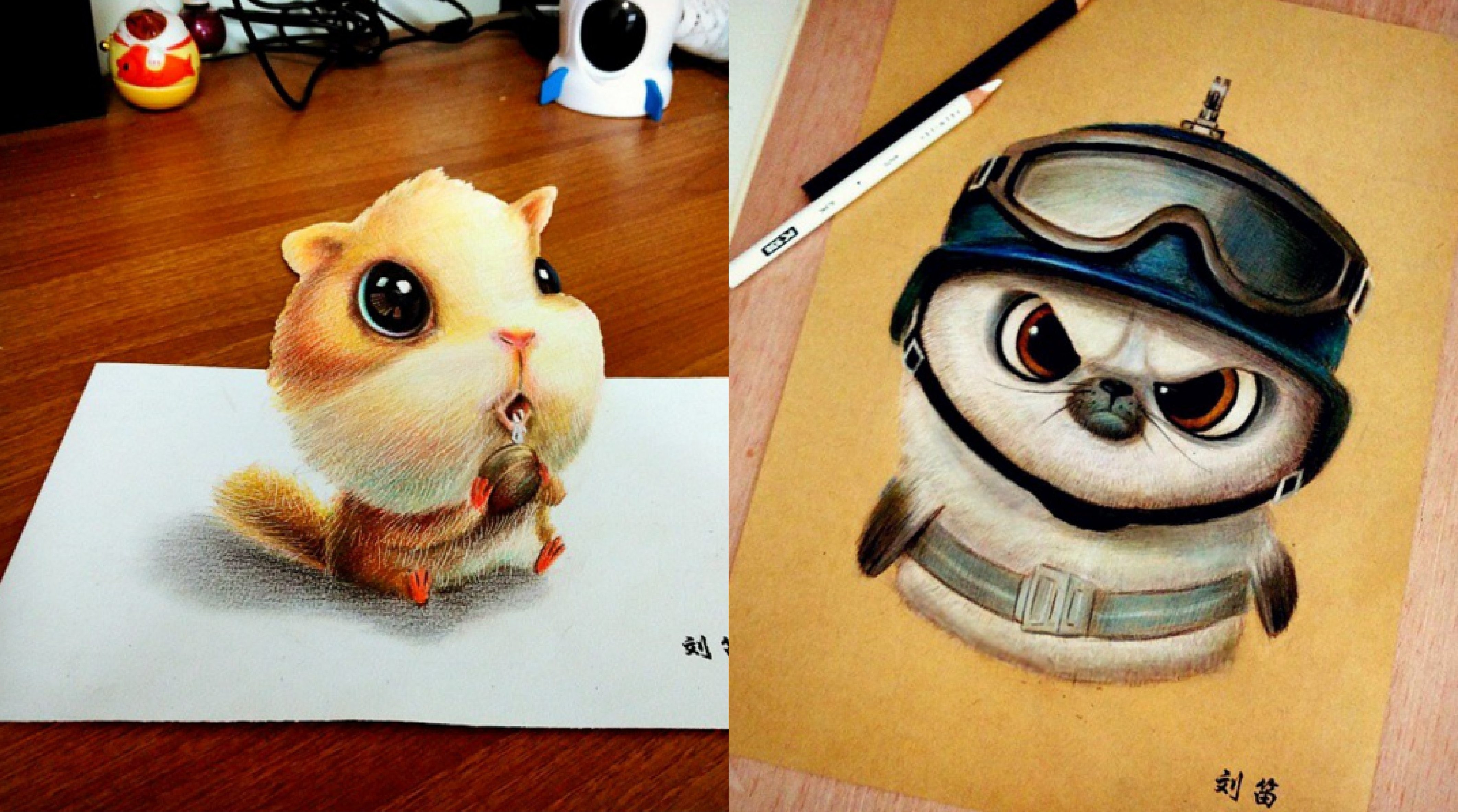 Cute and Funny Drawing Artworks by Chinese Artist oliudio ...