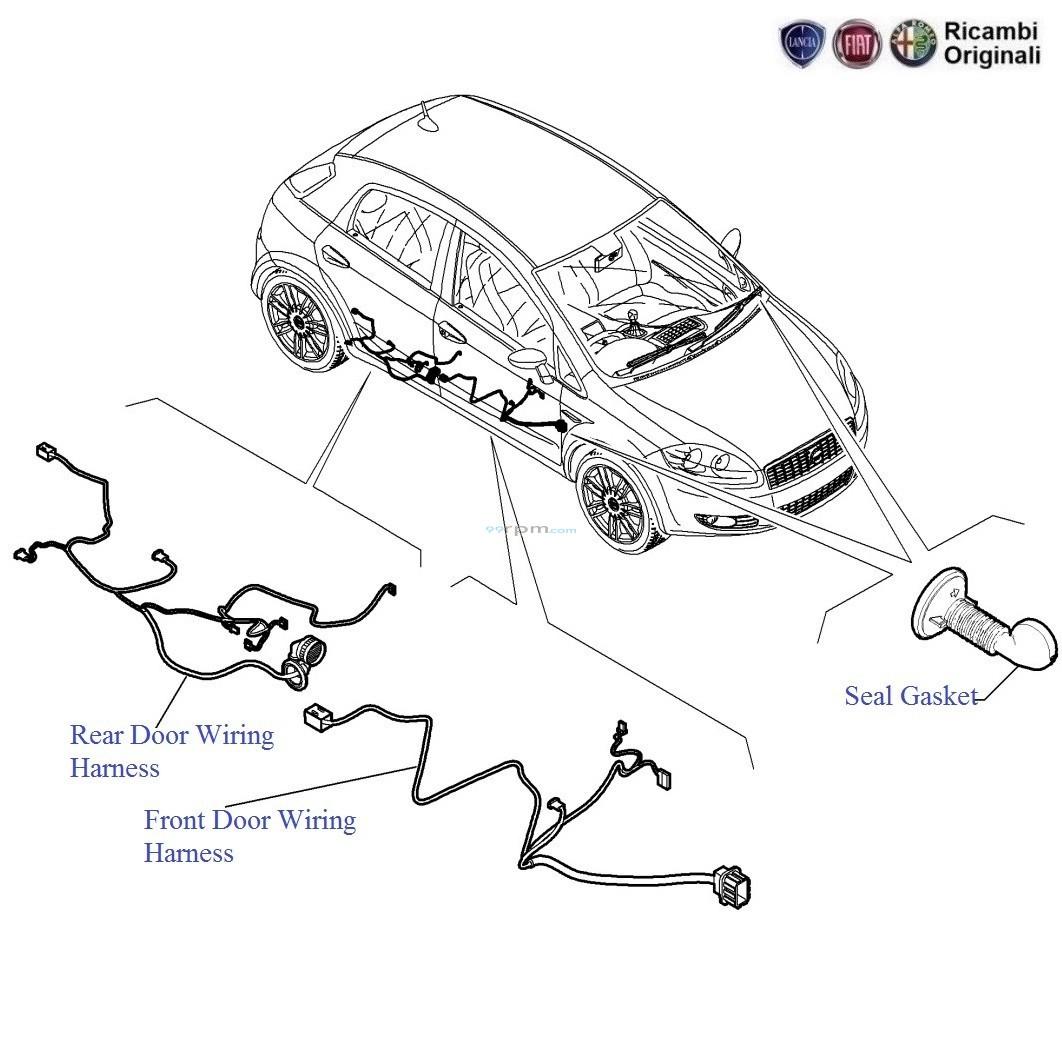 Fiat punto doors wiring harness